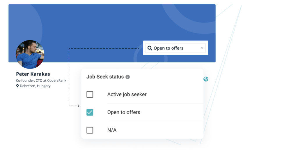 Find active and passive job-seekers